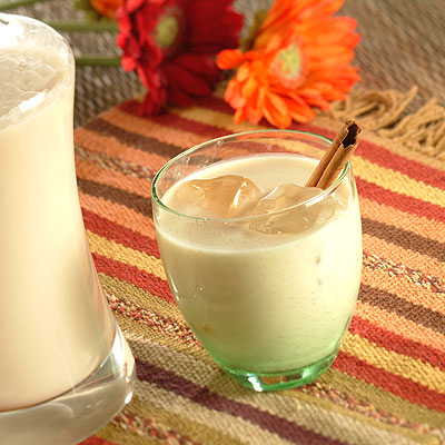 Batido de pera con leche de coco