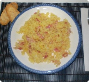 Receta de arroz con bacon