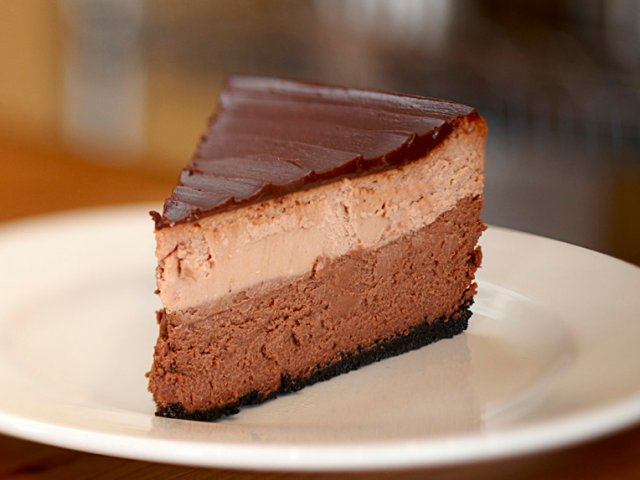 Cheesecake de triple chocolate